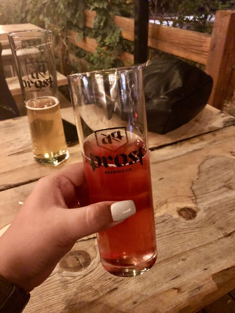 photo of a glass of kombucha from Prost brewing company in Denver CO