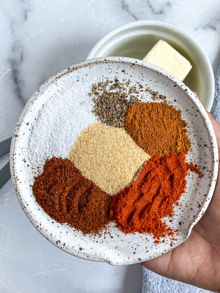 close up shot of spices